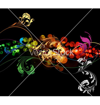 Free abstract floral background vector - Free vector #262421
