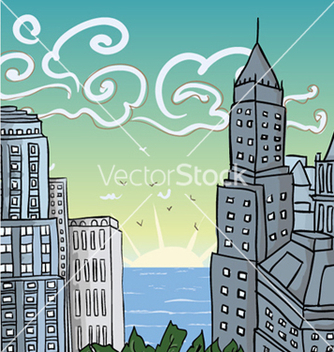 Free cartoon city vector - бесплатный vector #262501