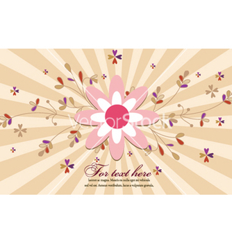 Free rays with floral vector - Kostenloses vector #262511