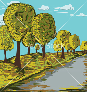 Free autumn landscape vector - Free vector #262541