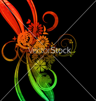 Free colorful floral background vector - vector #262551 gratis