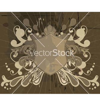 Free shield with floral vector - Kostenloses vector #262581