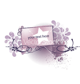 Free abstract floral frame vector - Free vector #262651