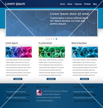 Free website template vector - Free vector #262681