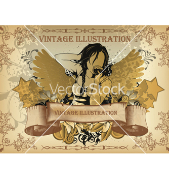 Free vintage music background vector - Free vector #262701