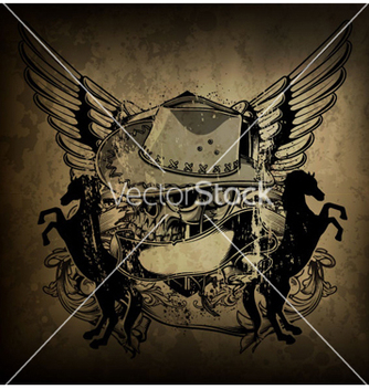 Free skull with wings vector - Free vector #262721
