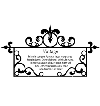 Free wrought iron frame vector - бесплатный vector #262941