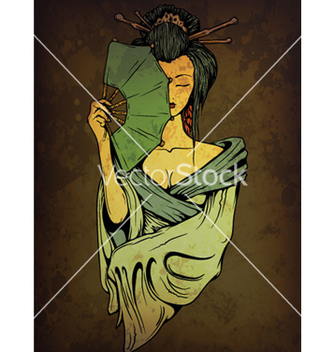 Free geisha on grunge background vector - Free vector #263031