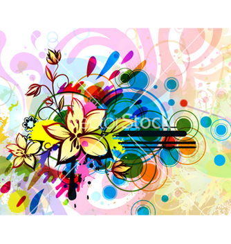 Free colorful floral background vector - vector #263091 gratis