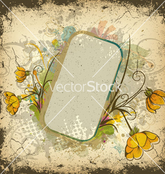 Free colorful grunge floral frame vector - Kostenloses vector #263301