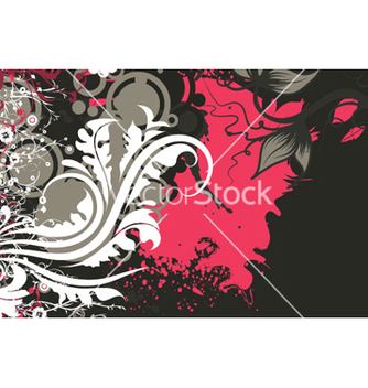 Free retro floral background vector - vector gratuit #263341
