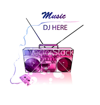Free colorful music poster vector - vector #263361 gratis