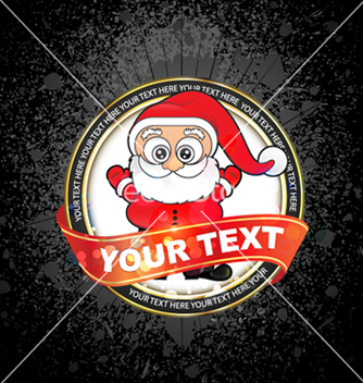 Free christmas label vector - бесплатный vector #263741