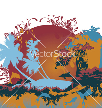 Free summer floral background vector - Free vector #263751