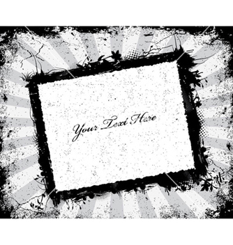 Free grunge frame with rays background vector - vector gratuit #263801