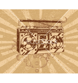Free retro ghetto blaster tape deck vector - Free vector #263901
