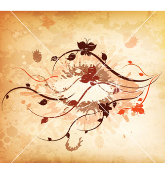 Free autumn grunge background vector - Free vector #263921