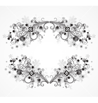 Free abstract floral frame vector - Free vector #263941
