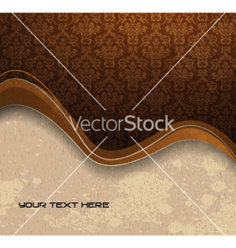 Free grunge damask wallpaper vector - бесплатный vector #264021