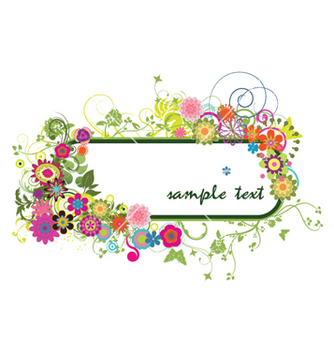 Free floral frame vector - Kostenloses vector #264051