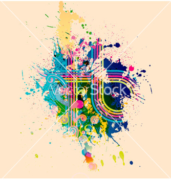 Free abstract with colorful splatter vector - Kostenloses vector #264441