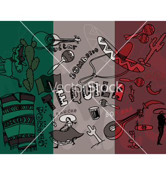 Free mexico doodles with grunge background vector - бесплатный vector #264481
