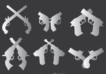 Weapon Guns Icons Set - vector #264581 gratis