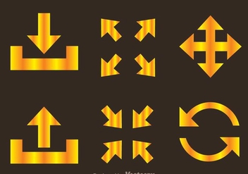 Golden Arrow Symbols - vector gratuit #264631