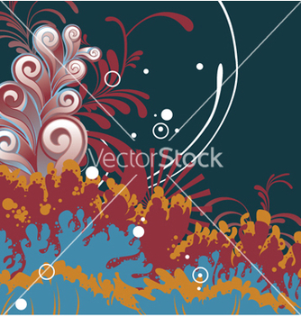 Free fantasy floral background vector - Free vector #264691