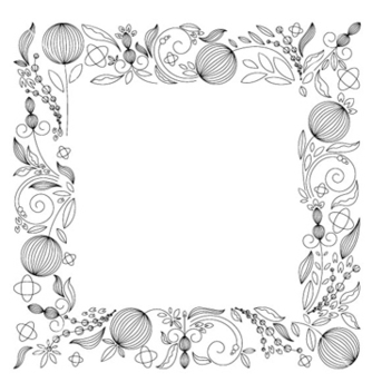 Free abstract floral frame vector - Free vector #264791