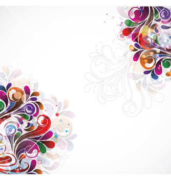 Free colorful swirls background vector - Free vector #264821