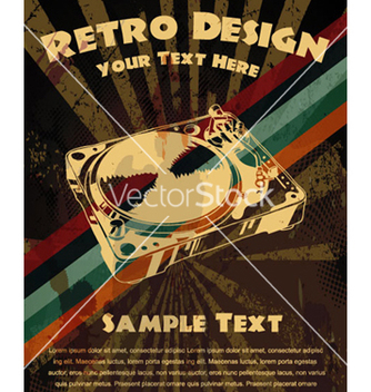 Free retro grunge concert poster vector - Free vector #264921