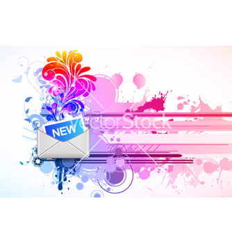 Free mail icon with floral and splash vector - Kostenloses vector #265071