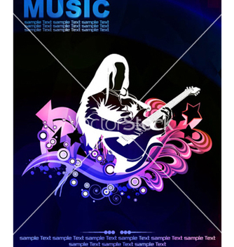 Free colorful concert poster vector - Free vector #265481