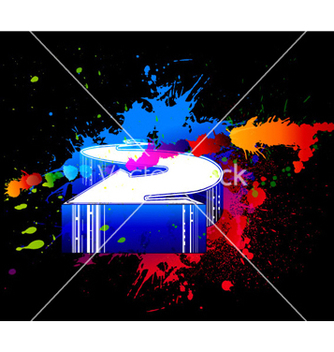 Free colorful splatter with 3d arrow vector - Kostenloses vector #265491