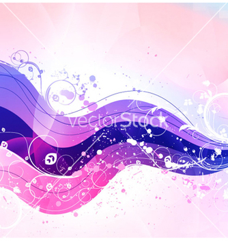 Free wave with floral vector - Free vector #265581