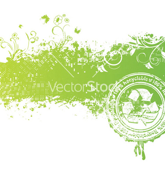 Free green floral background vector - Free vector #265921