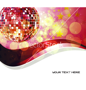 Free music background with discoball vector - Free vector #266131