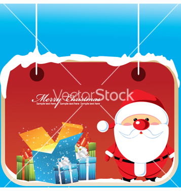 Free christmas greeting card vector - Kostenloses vector #266161