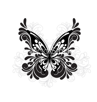 Free butterfly with floral vector - Free vector #266211