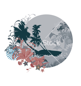 Free summer floral frame vector - Kostenloses vector #266231