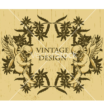 Free grunge floral frame with angels vector - Free vector #266251