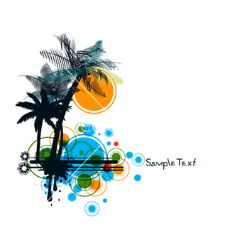 Free summer background vector - Kostenloses vector #266391