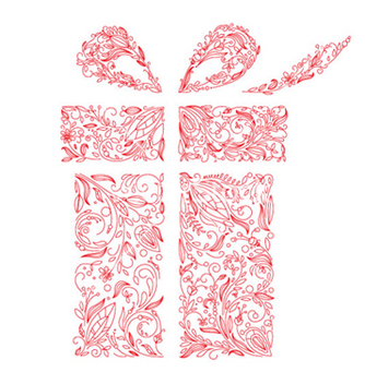 Free gift box made of floral vector - Kostenloses vector #266551