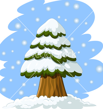 Free spruce in the snow vector - бесплатный vector #266681