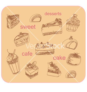 Free sweet dessert background vector - vector gratuit #266731