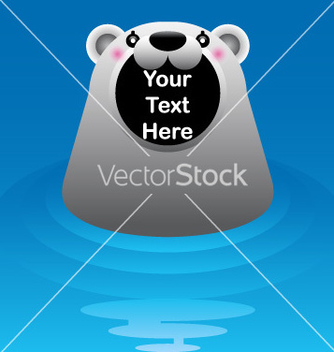 Free white polar bear in water vector - vector gratuit #266741