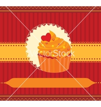 Free cupcake invitation card vector - vector gratuit #266791