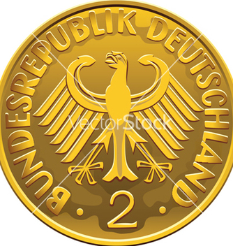 Free german 2 dollar coin vector - vector gratuit #266811