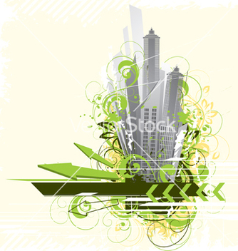 Free urban city background vector - Free vector #266871